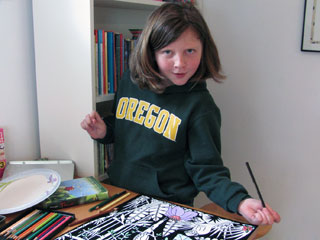 girl in oregon hoodie